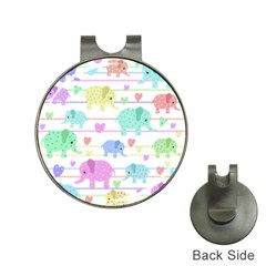 Elephant pastel pattern Hat Clips with Golf Markers