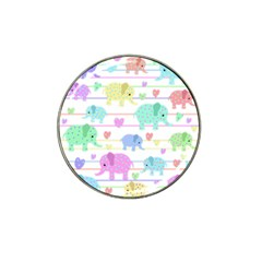 Elephant pastel pattern Hat Clip Ball Marker (4 pack)