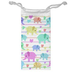 Elephant pastel pattern Jewelry Bag