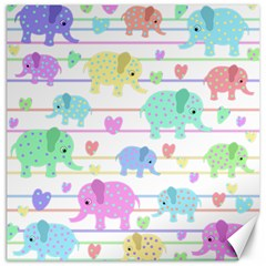 Elephant pastel pattern Canvas 20  x 20
