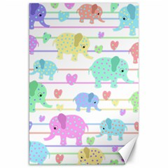 Elephant pastel pattern Canvas 20  x 30