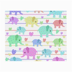Elephant pastel pattern Small Glasses Cloth (2-Side)