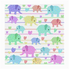 Elephant pastel pattern Medium Glasses Cloth (2-Side)