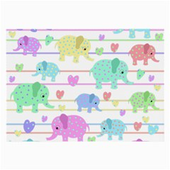 Elephant pastel pattern Large Glasses Cloth