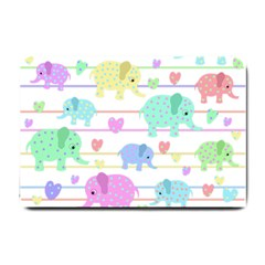 Elephant pastel pattern Small Doormat