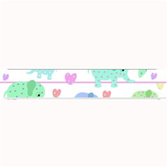 Elephant pastel pattern Small Bar Mats