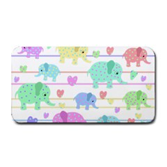 Elephant pastel pattern Medium Bar Mats