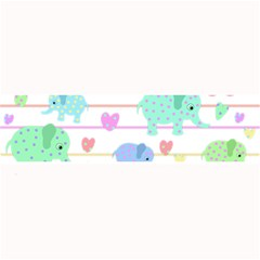 Elephant pastel pattern Large Bar Mats
