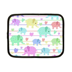 Elephant pastel pattern Netbook Case (Small)