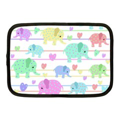 Elephant pastel pattern Netbook Case (Medium)