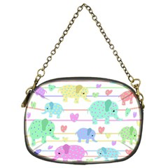 Elephant pastel pattern Chain Purses (One Side)