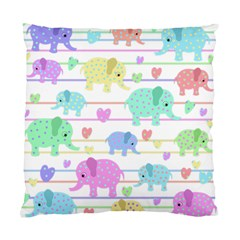 Elephant pastel pattern Standard Cushion Case (Two Sides)