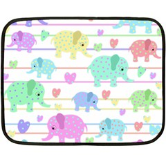 Elephant pastel pattern Double Sided Fleece Blanket (Mini)