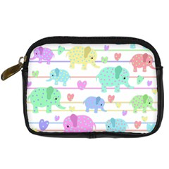 Elephant pastel pattern Digital Camera Cases