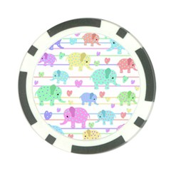 Elephant pastel pattern Poker Chip Card Guard (10 pack)
