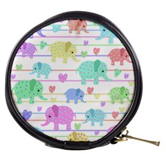 Elephant pastel pattern Mini Makeup Bags