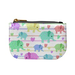 Elephant pastel pattern Mini Coin Purses