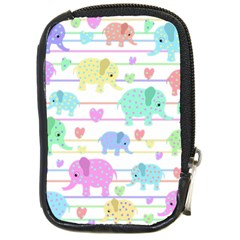 Elephant pastel pattern Compact Camera Cases