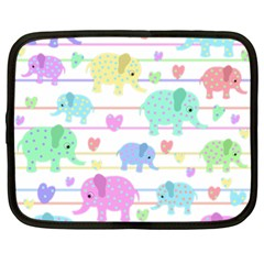 Elephant pastel pattern Netbook Case (XXL)