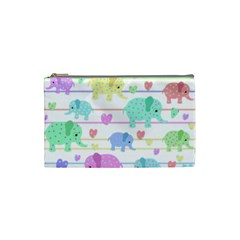 Elephant pastel pattern Cosmetic Bag (Small)