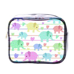 Elephant pastel pattern Mini Toiletries Bags