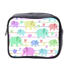 Elephant pastel pattern Mini Toiletries Bag 2-Side