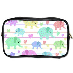Elephant pastel pattern Toiletries Bags 2-Side