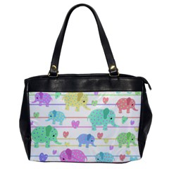 Elephant pastel pattern Office Handbags