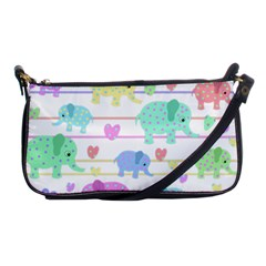 Elephant pastel pattern Shoulder Clutch Bags