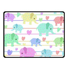 Elephant pastel pattern Fleece Blanket (Small)