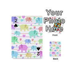 Elephant pastel pattern Playing Cards 54 (Mini)