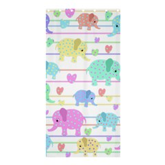 Elephant pastel pattern Shower Curtain 36  x 72  (Stall)