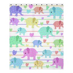 Elephant pastel pattern Shower Curtain 60  x 72  (Medium)