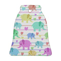 Elephant pastel pattern Bell Ornament (Two Sides)