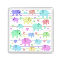 Elephant pastel pattern Memory Card Reader (Square)