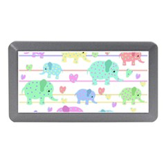 Elephant pastel pattern Memory Card Reader (Mini)