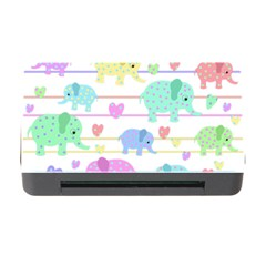 Elephant pastel pattern Memory Card Reader with CF