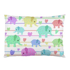 Elephant pastel pattern Pillow Case (Two Sides)
