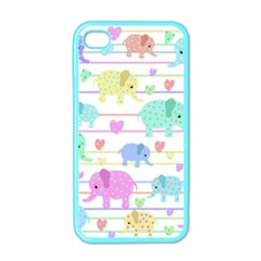 Elephant pastel pattern Apple iPhone 4 Case (Color)