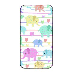 Elephant pastel pattern Apple iPhone 4/4s Seamless Case (Black)