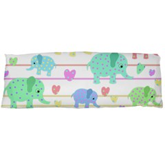 Elephant pastel pattern Body Pillow Case (Dakimakura)