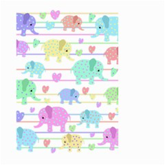 Elephant pastel pattern Large Garden Flag (Two Sides)
