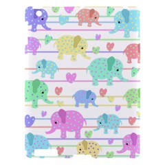Elephant pastel pattern Apple iPad 3/4 Hardshell Case