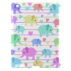 Elephant pastel pattern Apple iPad 3/4 Hardshell Case (Compatible with Smart Cover)