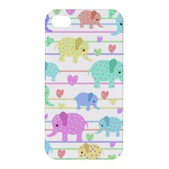 Elephant pastel pattern Apple iPhone 4/4S Premium Hardshell Case