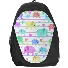 Elephant pastel pattern Backpack Bag