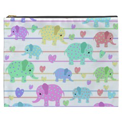 Elephant pastel pattern Cosmetic Bag (XXXL)