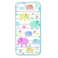 Elephant pastel pattern Apple Seamless iPhone 5 Case (Color)