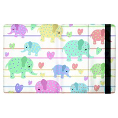 Elephant pastel pattern Apple iPad 2 Flip Case