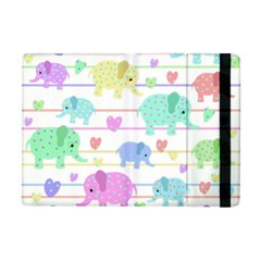 Elephant pastel pattern Apple iPad Mini Flip Case